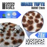 Grass TUFTS - 2mm self-adhesive - Burnt