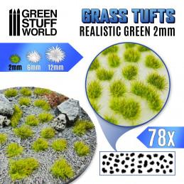 Grasbüschel - Selbstklebend - 2mm - Realistische Grün