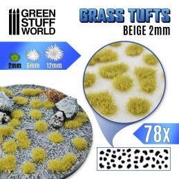 Touffes d'herbe - 2mm - Auto-Adhésif - BEIGE