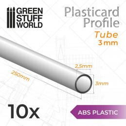 ABS Plasticard - Profile TUBE 3mm
