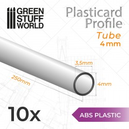 ABS Plasticard - Profile TUBE 4mm
