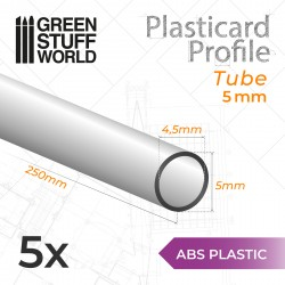 ASA Polystyrol-Profile ROHRPROFIL RUND Plastikcard 5mm