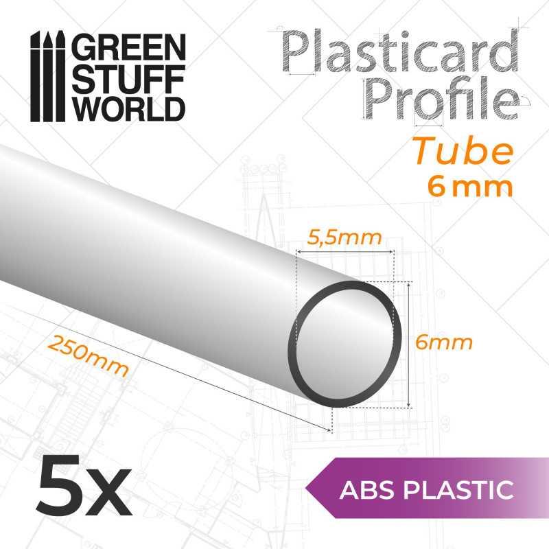 ASA Polystyrol-Profile ROHRPROFIL RUND Plastikcard 6mm