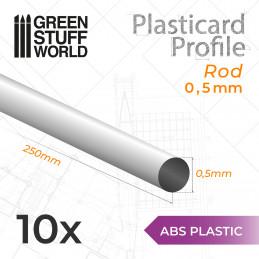 Plasticard PROFILÉ TIGE ROND 0'5mm
