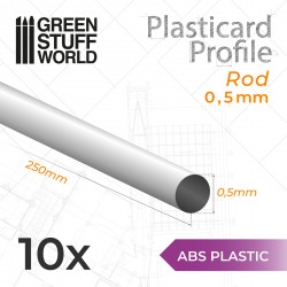 ASA Polystyrol-Profile RUNDSTAB RÖHRE Plastikcard 0'5mm