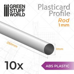 Perfil Plasticard BARRA 1mm