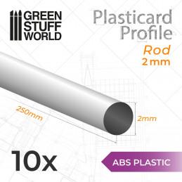 Perfil Plasticard BARRA 2mm
