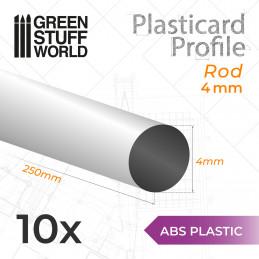 ASA Polystyrol-Profile RUNDSTAB RÖHRE Plastikcard 4mm