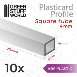 ASA Polystyrol-Profile ROHRPROFIL QUADRAT Plastikcard 4mm