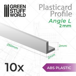 ASA Polystyrol-Profile WINKELPROFIL Plastikcard 2mm