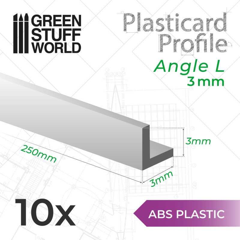ABS Plasticard - Profile ANGLE-L 3mm