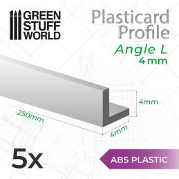 Plasticard PROFILÉ CORNIÈRE 4mm