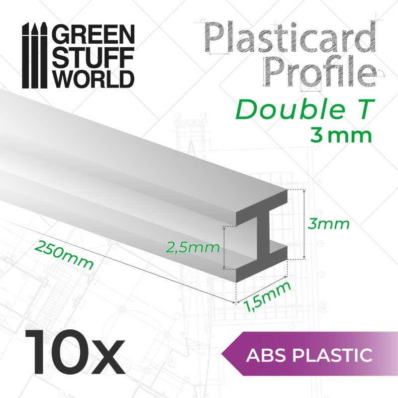 Plasticard PROFILÉ DOUBLE-T 3mm