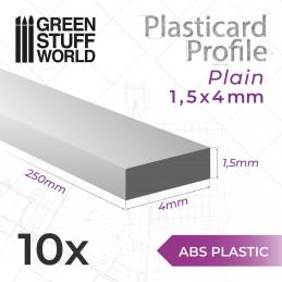 Perfil Plasticard TIRAS PLANAS 4mm