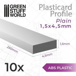 Perfil Plasticard TIRAS PLANAS 5mm
