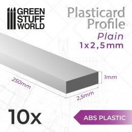 ASA Polystyrol-Profile FLACHPROFILE Streifen Plastikcard 2mm