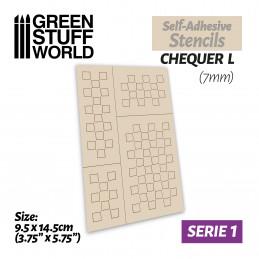 Selbstklebende Schablonen - Quadrate L - 7mm