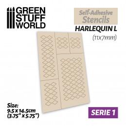 Selbstklebende Schablonen - Harlekin L - 11x7mm