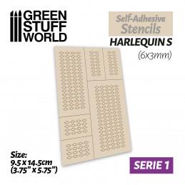 Selbstklebende Schablonen - Harlekin S - 6x3mm