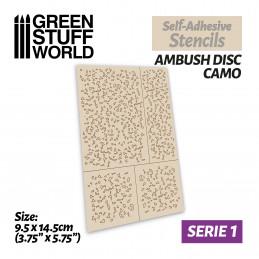 Pochoirs auto-adhésifs - Disque de camouflage