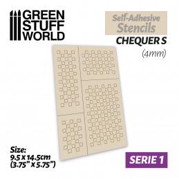 Selbstklebende Schablonen - Quadrate S - 4mm