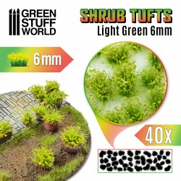 Shrubs TUFTS - 6mm self-adhesive - LIGHT GREEN