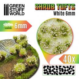 Shrubs TUFTS - 6mm self-adhesive - WHITE