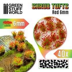 Shrubs TUFTS - 6mm self-adhesive - RED Flowers