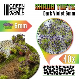 Shrubs TUFTS - 6mm self-adhesive - DARK VIOLET