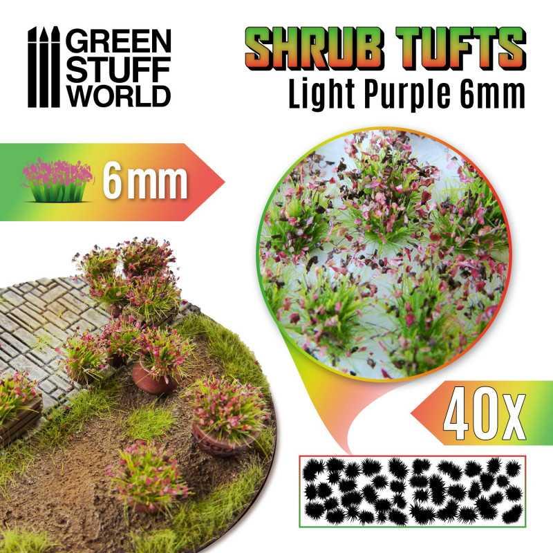 Shrubs TUFTS - 6mm self-adhesive - LIGHT PURPLE