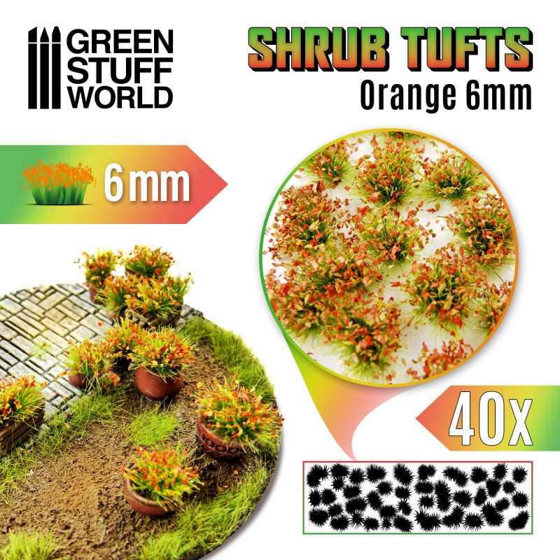 Shrubs TUFTS - 6mm self-adhesive - ORANGE