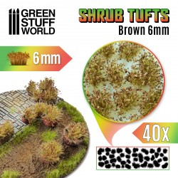 Shrubs TUFTS - 6mm self-adhesive - BROWN