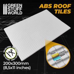 ABS Plasticard - ROOF TILES Textured Sheet - A4