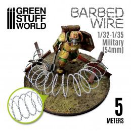 Stacheldraht - Barbed Wire - 1/32-1/35 Militär (54mm)