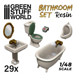 Resin Set Toilet and WC
