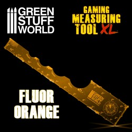 Gaming Measuring Tool - Fluor Orange 12 inches