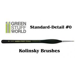 Pinceau Pro STANDARD-DETAIL 0 - POIL NATUREL KOLINSKY