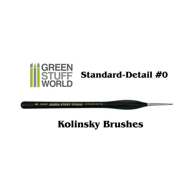 Brushes Standard Detail 0 Natural Kolinsky